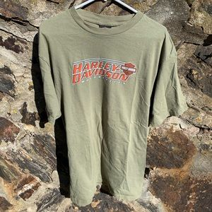 Harley Davidson Double Sided Green T Shirt